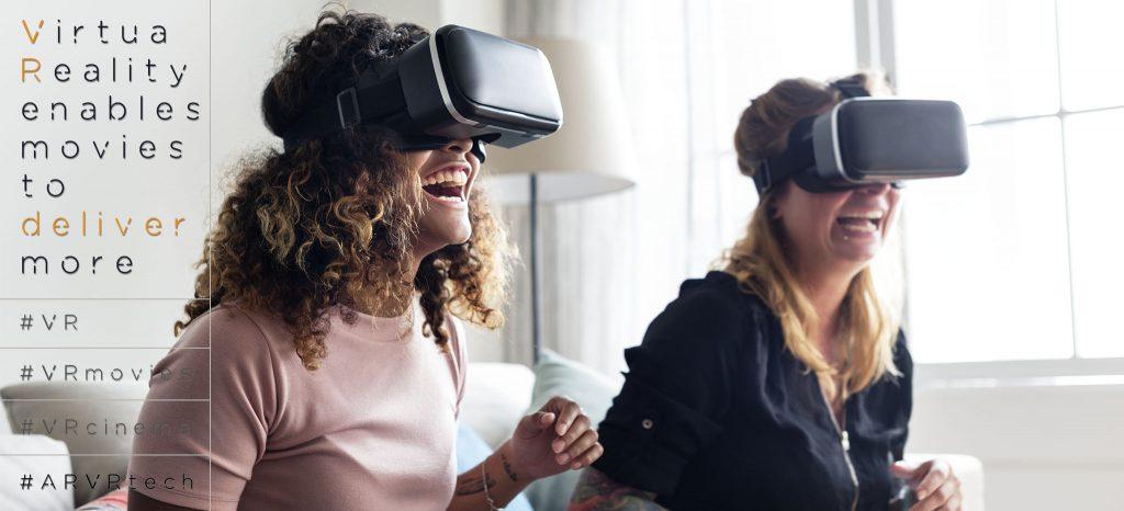 Two Women Wearing VR Headsets